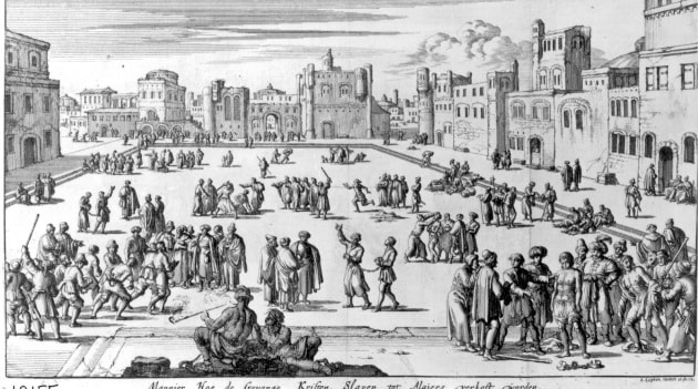 Mercato degli schiavi ad Algeri (disegno del 1700)